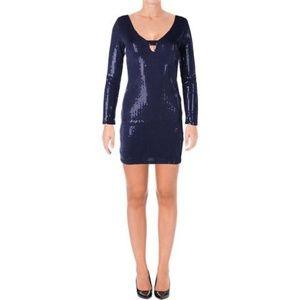 NWT Aqua Navy Sequin Dress
